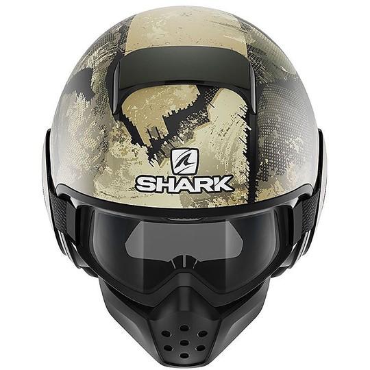 Casque Moto Jet Shark DRAK EVOK Vert Argent Mat