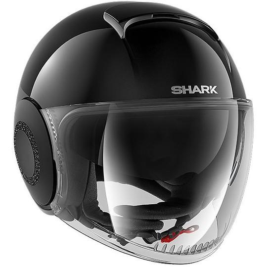 Casque Moto Jet Shark NANO Crystal Dual Swarovski Noir