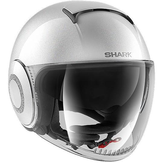 Casque moto Jet Shark NANO Crystal Swarovski Blank Pearl