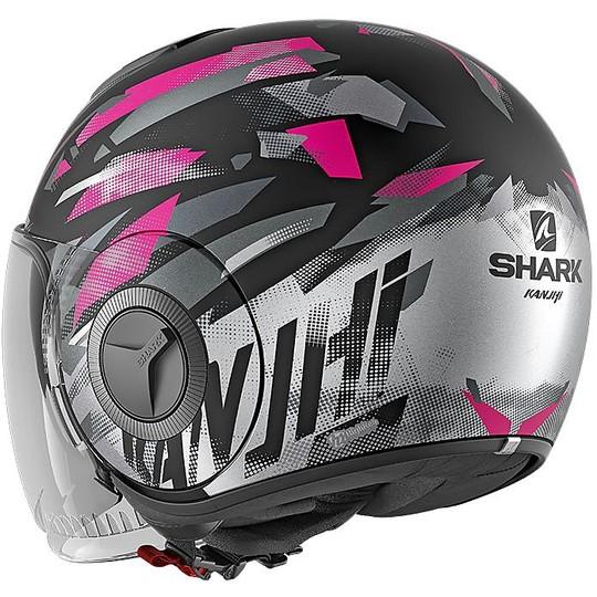 Casque Moto Jet Shark NANO KANHJI Matt Black Pink