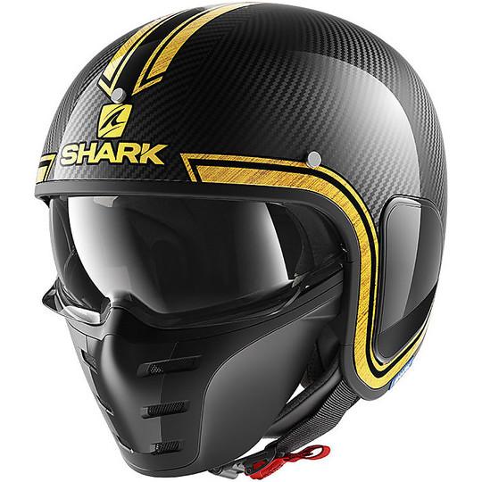Casque moto Jet Shark S-DRAK VINTA Carbon Chrom Gold