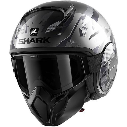Casque Moto Jet Shark STREET-DRAK Kanhji Glossy Grey