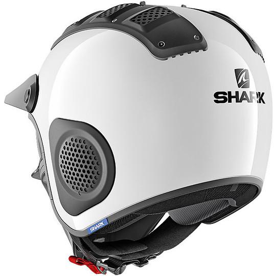 Casque moto Jet Shark X-DRAK blanc blanc