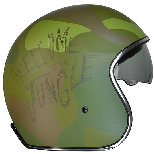 Casque Moto Jet Sprint Origin Vintage Custom Army Green
