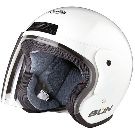 Casque moto Jet Stormer SUN Blanc