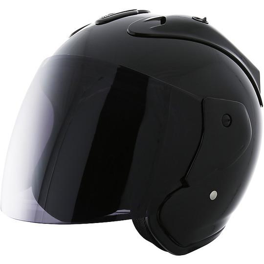 Casque moto Jet Stormer SUN EVO Noir