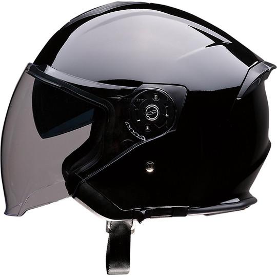 Casque Moto Jet Z1r Double Visor Road Max Glossy Black
