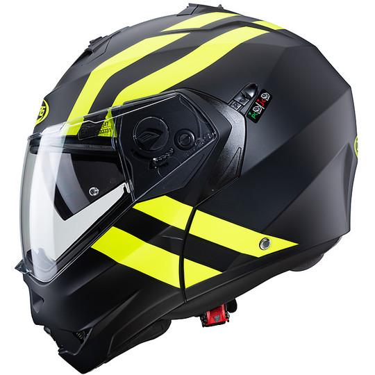 Casque Moto Mdulare Approval P / J Caberg DUKE II SUPERLEGEND Noir Mat Fluo Jaune