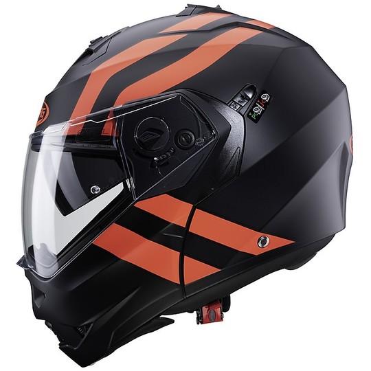 Casque Moto Mdulare Approval P / J Caberg DUKE II SUPERLEGEND Noir Mat Rouge Fluo