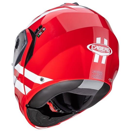 Casque moto Mdulare Approval P / J Caberg DUKE II SUPERLEGEND Rouge Blanc