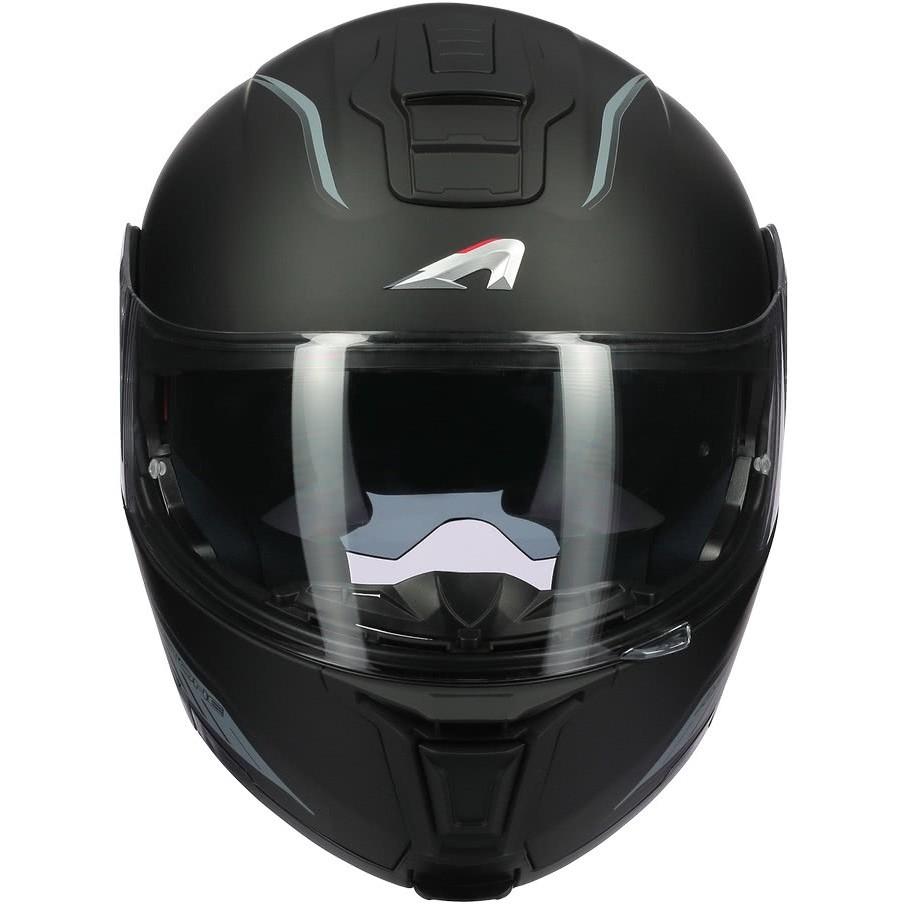 Casque Moto Modulable Astone RT 1200 Evo DARK SIDE Noir Mat Gris