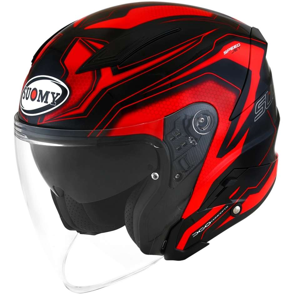 Casque moto Suomy SPEEDJET READY rouge