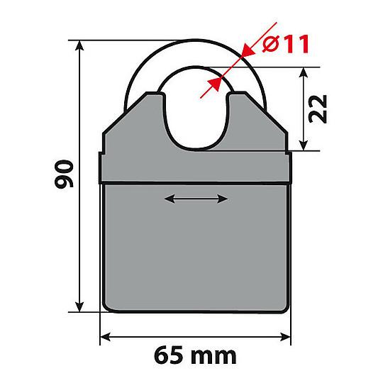 Catena Antifurto In Acciaio Cementato Lampa 90632 C-Lock 150R 150 cm