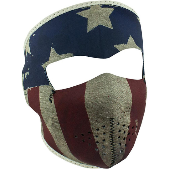 Collare Maschera Moto Zanheadgear Full Face Mask Patriota