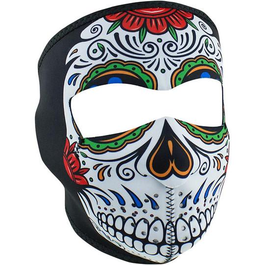 Collare Maschera Moto Zanheadgear Full Face Mask Teschio Santa Morte
