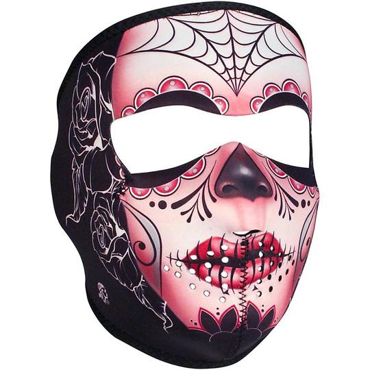 Collare Maschera Moto Zanheadgear Full Face Mask Teschio Sugar