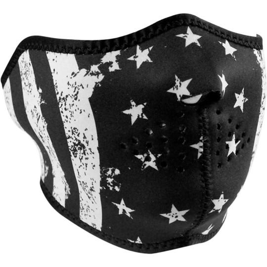 Collare Maschera Moto Zanheadgear Half Face Mask Bandiera Nera