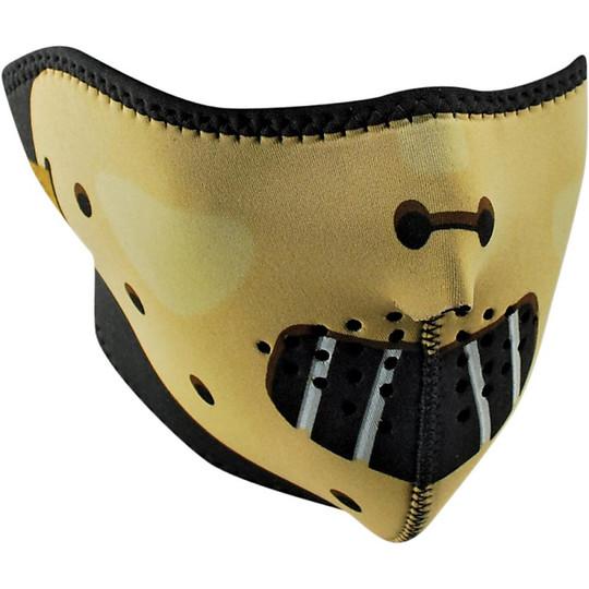 Collare Maschera Moto Zanheadgear Half Face Mask Hannibal