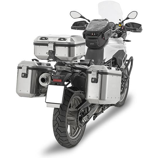 Coppia di Valigie Laterali Givi Trekekr Dolomiti In Alluminio 36Lt