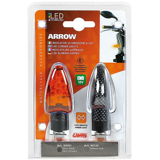 Coppia Frecce Moto a Led 12v Lampa 90124 ARROW Carbon