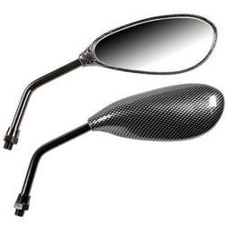 Coppia Specchietti Moto Modello Naked da 10mm Colore Carbon Look Lampa