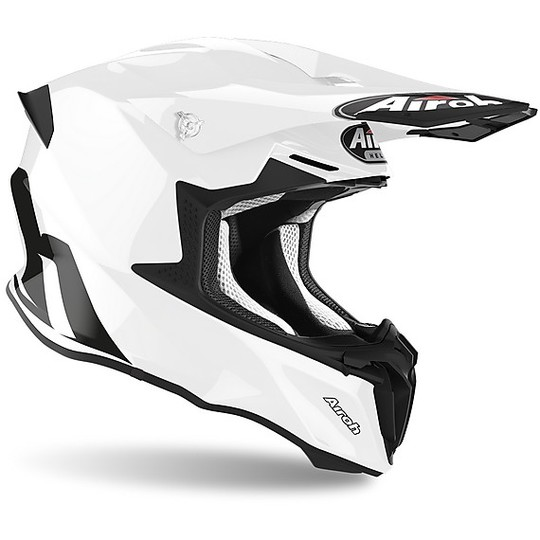 Cross Enduro Casque de moto Airoh TWIST 2.0 Color Glossy White
