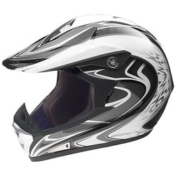 Cross Enduro Motorcycle Helmet Vemar Vrx Model C108-7 With visor fiber Tricomposita Vemar