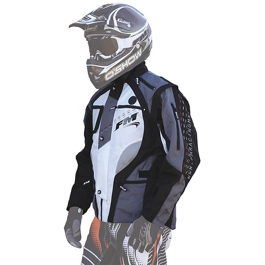 Cross Enduro motorcycle jacket Technical FM Hydro Racing Enduro Jacket Black Grey