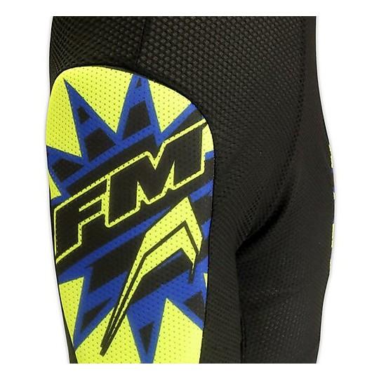 Enfants Moto Cross Enduro Shorts de protection FM Racing Air Pants Noir Jaune