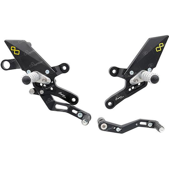 Ensembles arrière réglables Lightech FTRHO008W Repose-pieds articulé pour Honda CB 1000 R 2018-19