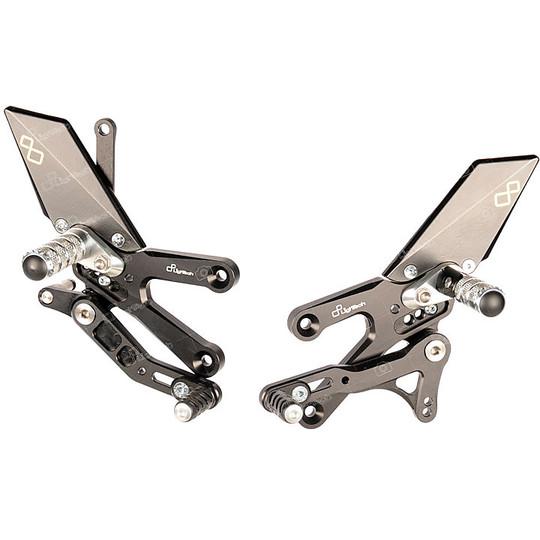 Ensembles arrière réglables Lightech FTRYA014w Repose-pieds articulé pour Yamaha R3 2015-20