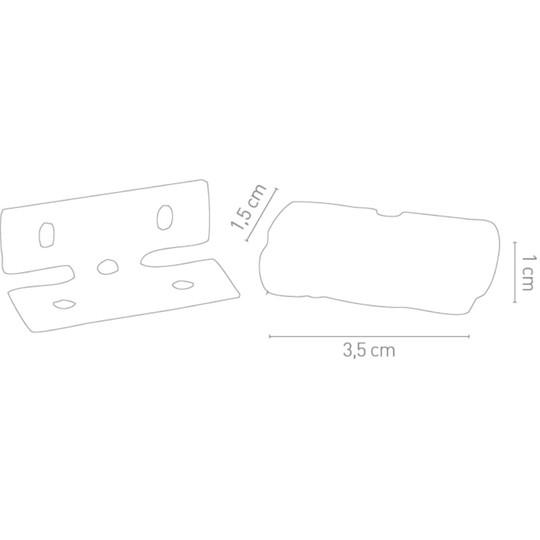 Feu de plaque d'immatriculation arrière Led Chaft homologué Domino