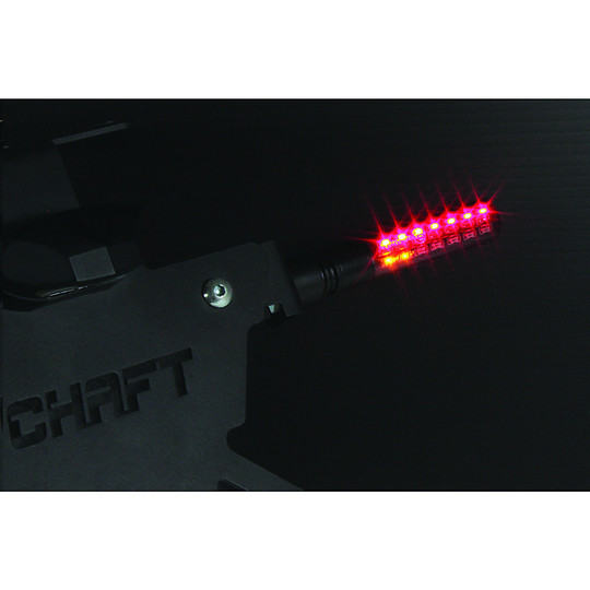 Flèches de moto Chaft Enigma Led Sequential Approved Set Back Black Reflex Smoke