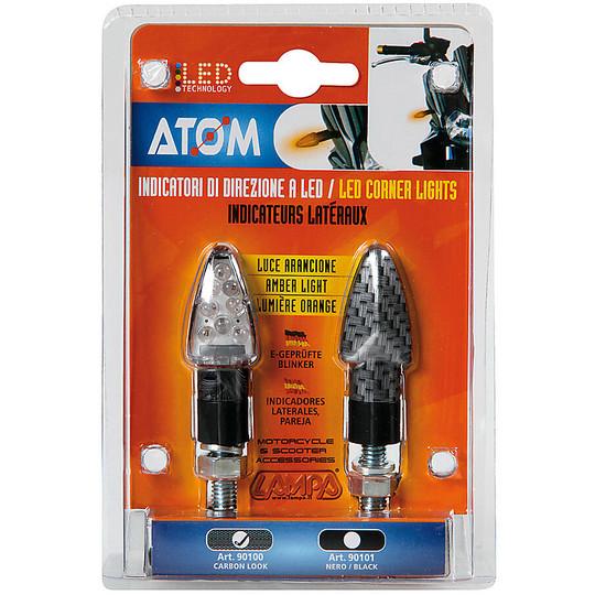 Flèches Moto Couple Atom Led Couleur Carbone