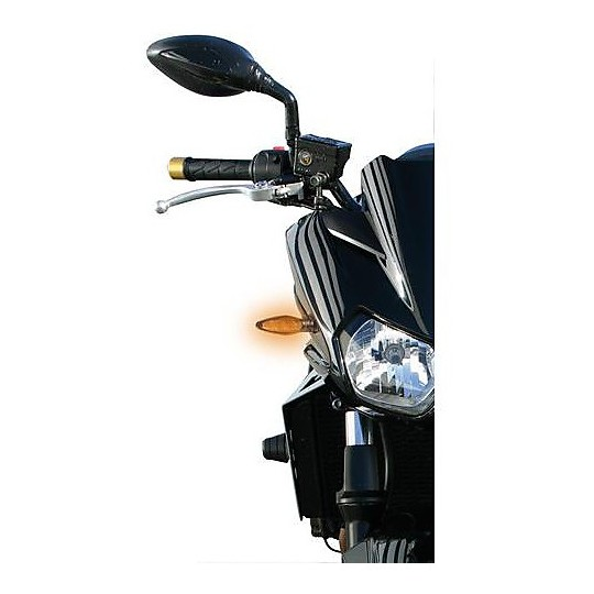 Flèches Moto Couple Lampa Led Striker Black