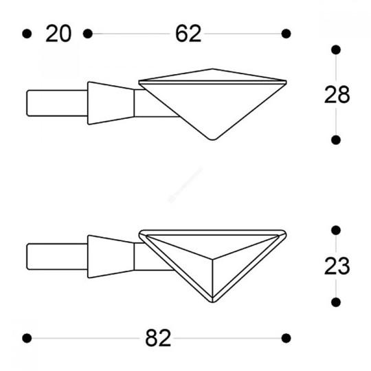 Flèches moto universelles approuvées Barracuda Z-Led B-Lux Blue