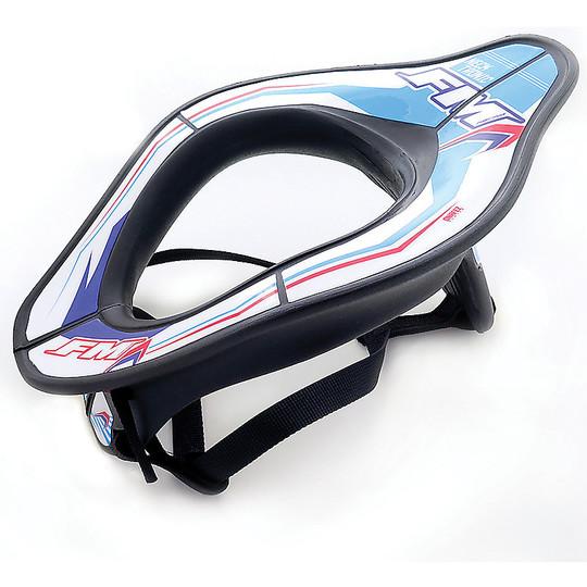 FM Racing Neck Tronic Technical Motorcycle Collar Noir Blanc Bleu
