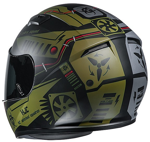 L Casco de moto HJC CS 15 TAREX MC4HSF Amarillo//Negro