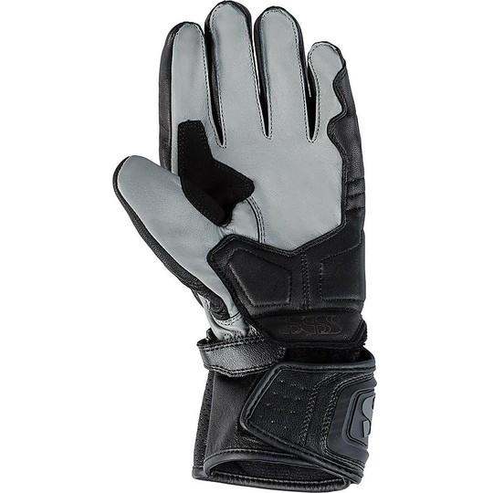 Gant de course moto en cuir Ixs Sport Rs-100 noir