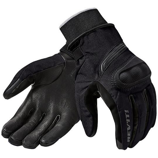 Gant de moto en cuir et tissu Rev'it HYDRA 2 H2O noir