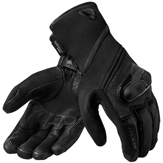 Gant de moto en cuir et tissu Rev'it SIRIUS 2 H2O noir