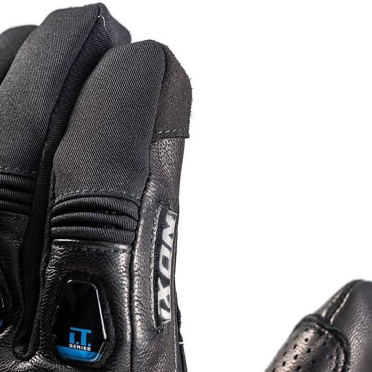 Gants chauffants moto intelligents Ixon IT-ASO Clim8 Noir Jaune Vivo IT-Serie