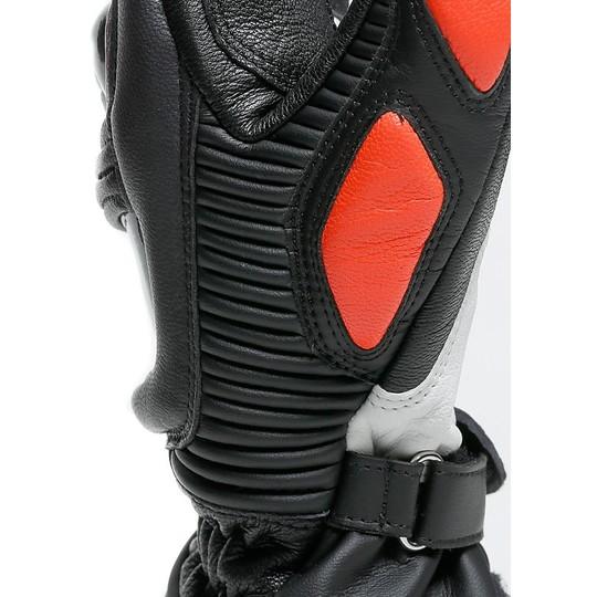 Gants de course moto en cuir Dainese DRUID 3 noir rouge