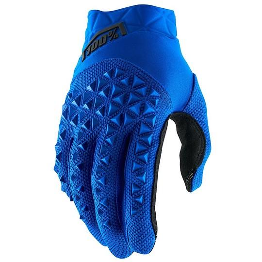 Gants de moto 100% AIRMATIC Cross Enduro Bleu Noir