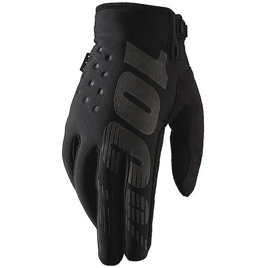Gants de moto 100% Cross Enduro BRISKER Noir Gris