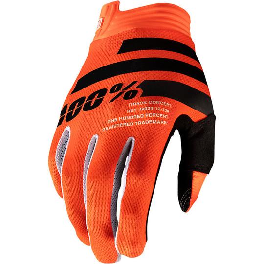 Gants de moto 100% iTRACK Cross Enduro Orange Noir