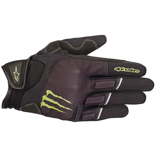 Gants de moto Alpinestars Monster Energy RAID Noir