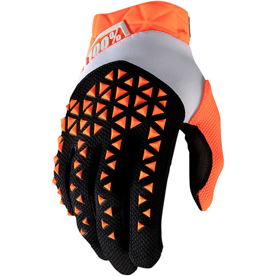 Gants de moto Cross Enduro 100% AIRMATIC Orange Noir