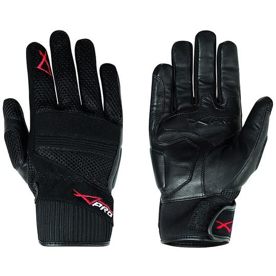 Gants de moto Cross Enduro A-Pro modèle Fanair noir