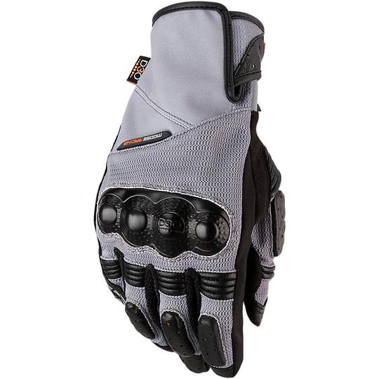Gants de moto d'été avec protections grises D3O Moose Racing ADV1 Air Mesh
